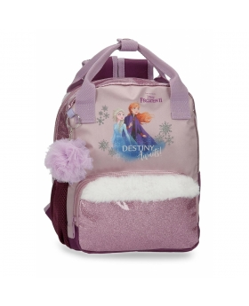 Frozen Mochila  Destiny Awaits Preescolar  adaptable a carro Morado - 1