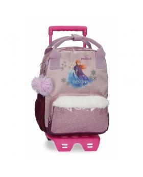 Frozen Mochila  Destiny Awaits Preescolar  con carro Morado - 1