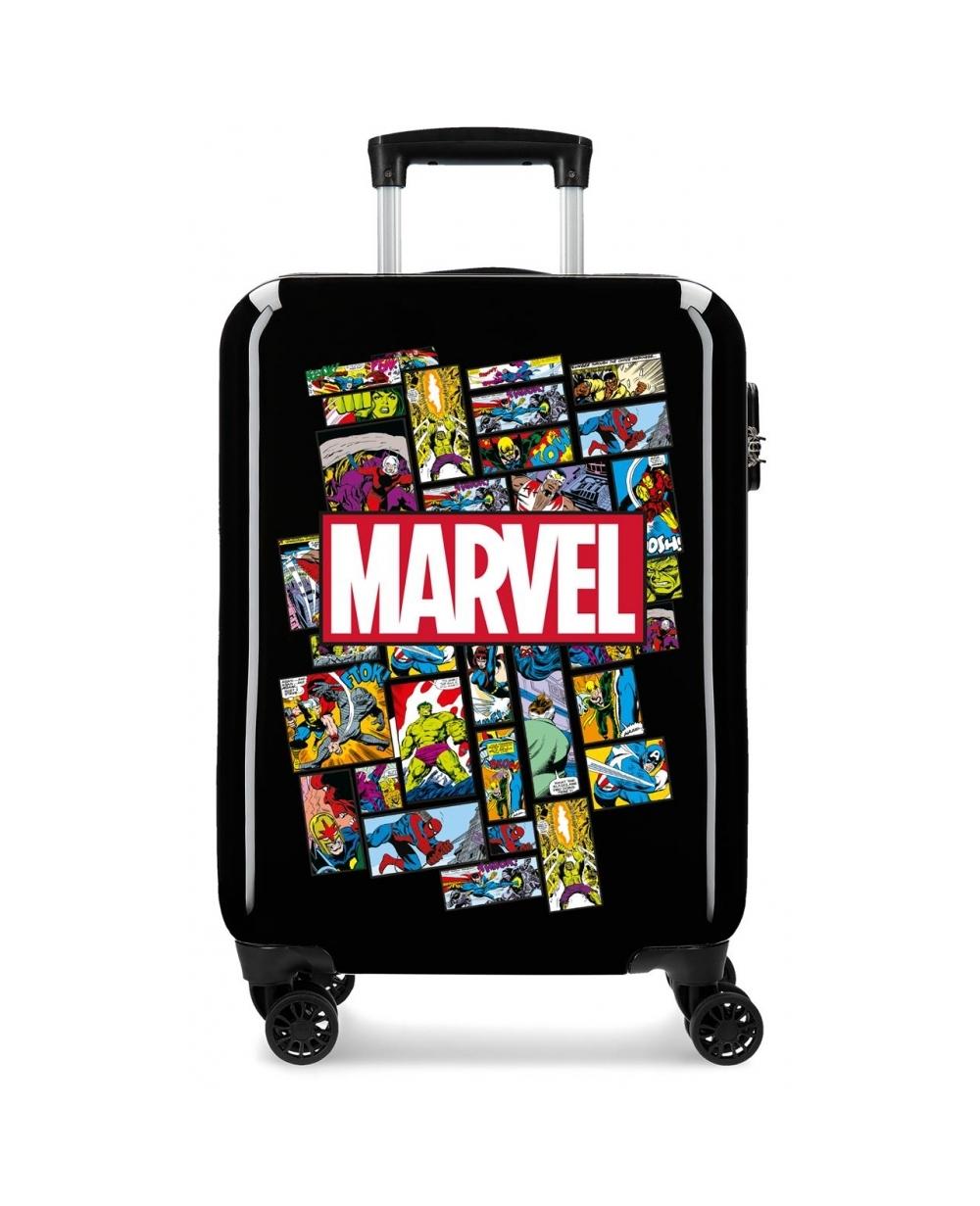 Marvel Maleta de Cabina Comic  rígida   Negro (Foto )