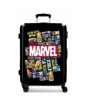 Marvel Maleta Mediana Comic  rígida   Negro - 1