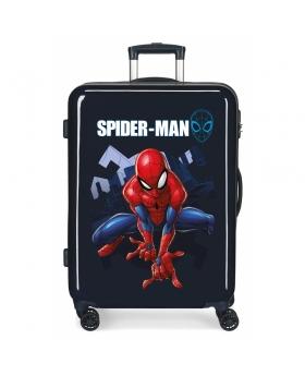 Spider-Man Maleta Mediana Spiderman Action rígida   Azul - 1