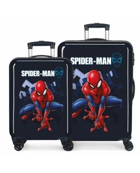 Spider-Man Juego de Maletas Spiderman Action rígidas 55-  Azul - 1