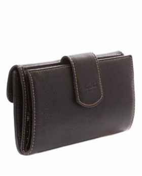 Monedero billetero de piel Amichi Mónaco Negro - 19cm | Maletia.com