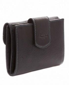 Monedero billetero de piel Amichi Mónaco Negro - 14cm | Maletia.com