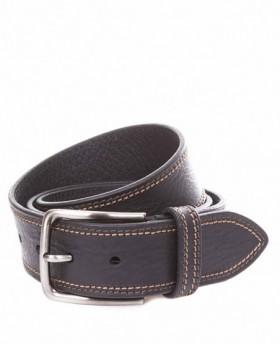 Cinturón de piel Miguel Bellido Jeans Negro - 110cm | Maletia.com