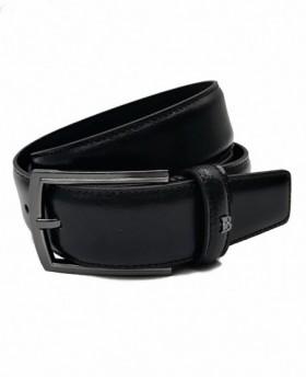 Cinturón de piel Miguel Bellido Negro - 90cm | Maletia.com