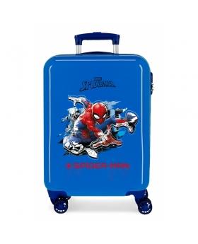 Spider-Man Maleta de cabina rígida Spiderman Geo  Azul - 1