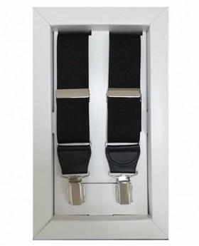 Tirantes Dalvi Lisos en Negro - 110cm | Maletia.com