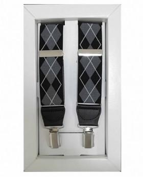Tirantes Dalvi Rombos en Negro - 110cm | Maletia.com