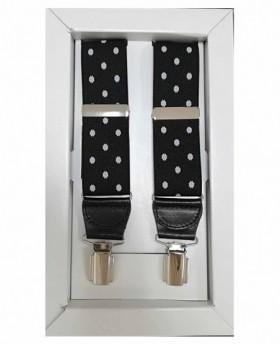Tirantes Dalvi Lunares en Negro - 110cm | Maletia.com