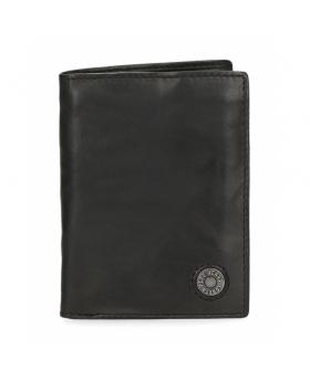 Cartera  Button vertical con monedero Negra Pepe Jeans Negro 12cm | Maletia.com