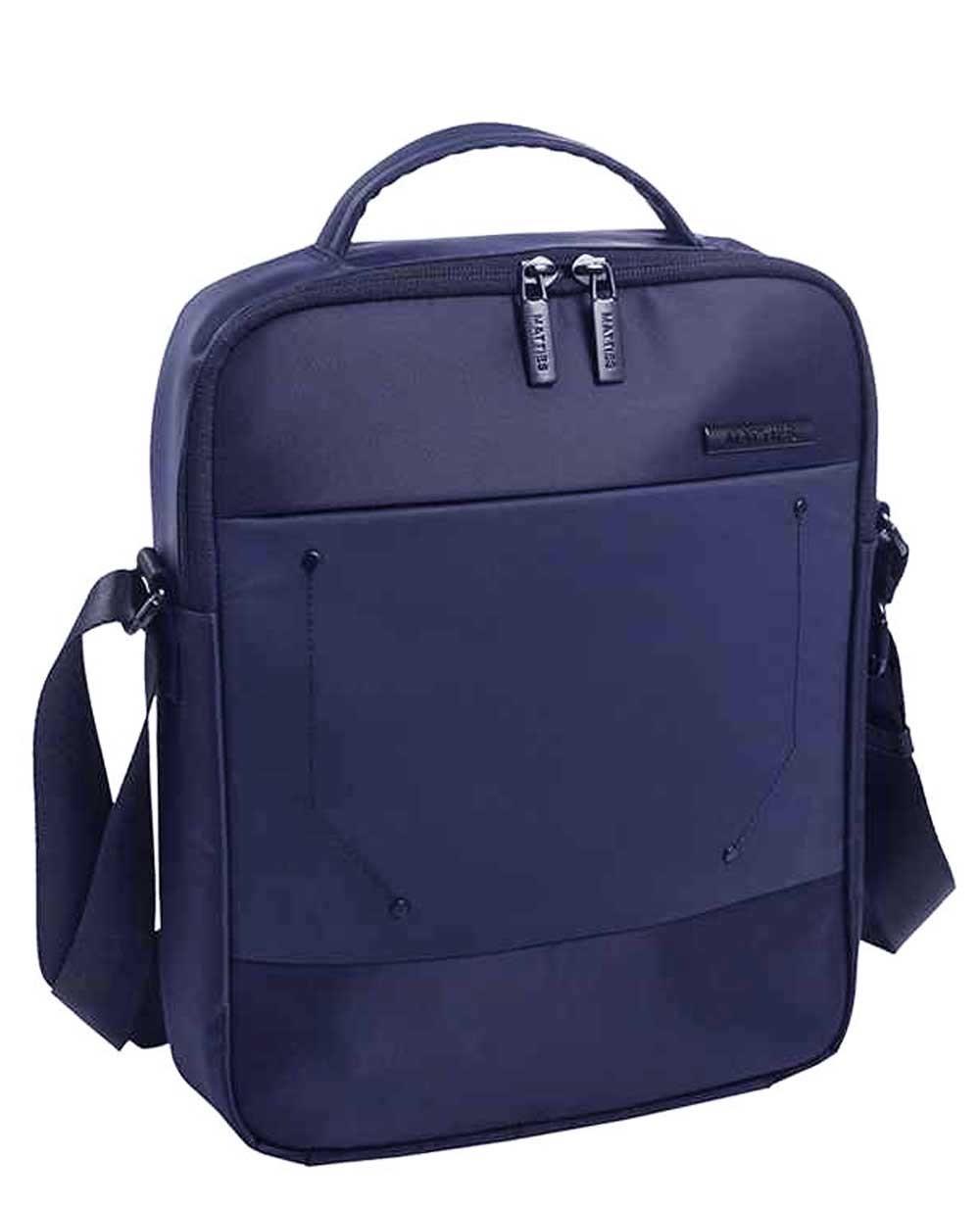 "Matties Bags 10.2"" Bandolera Nylon Azul (Foto )"