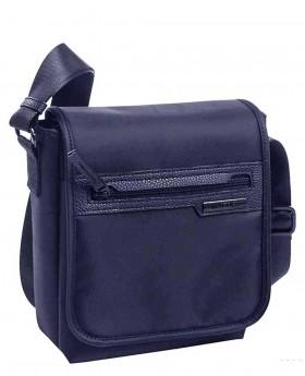 Bolso de hombre Matties Lona Azul - 23cm | Maletia.com