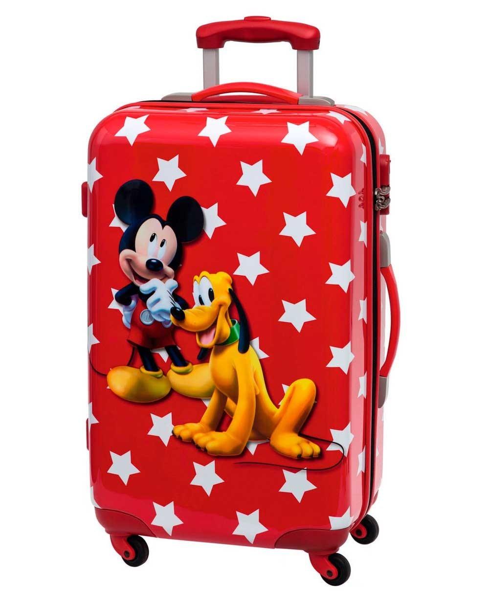 Mickey & Pluto Stars Maleta mediana Roja (Foto )