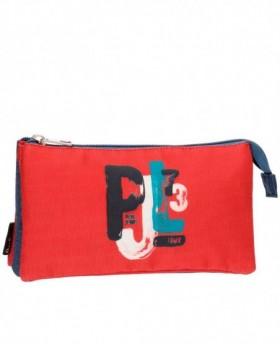 Estuche Pepe Jeans James Rojo - 22cm | Maletia.com