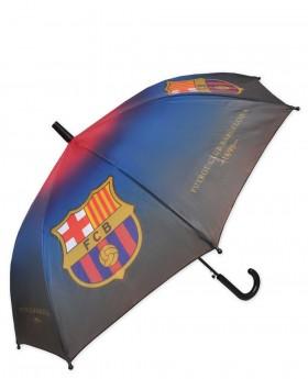 Paraguas FC Barcelona largo automático Negro | Maletia.com