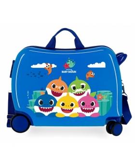 Baby Shark Maleta Infantil  Happy Family Azul - 1