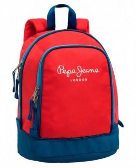 Pepe Jeans Bicolor Boy Mochila de día Roja