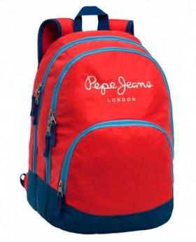 Pepe Jeans Bicolor Boy Mochila adaptable Roja