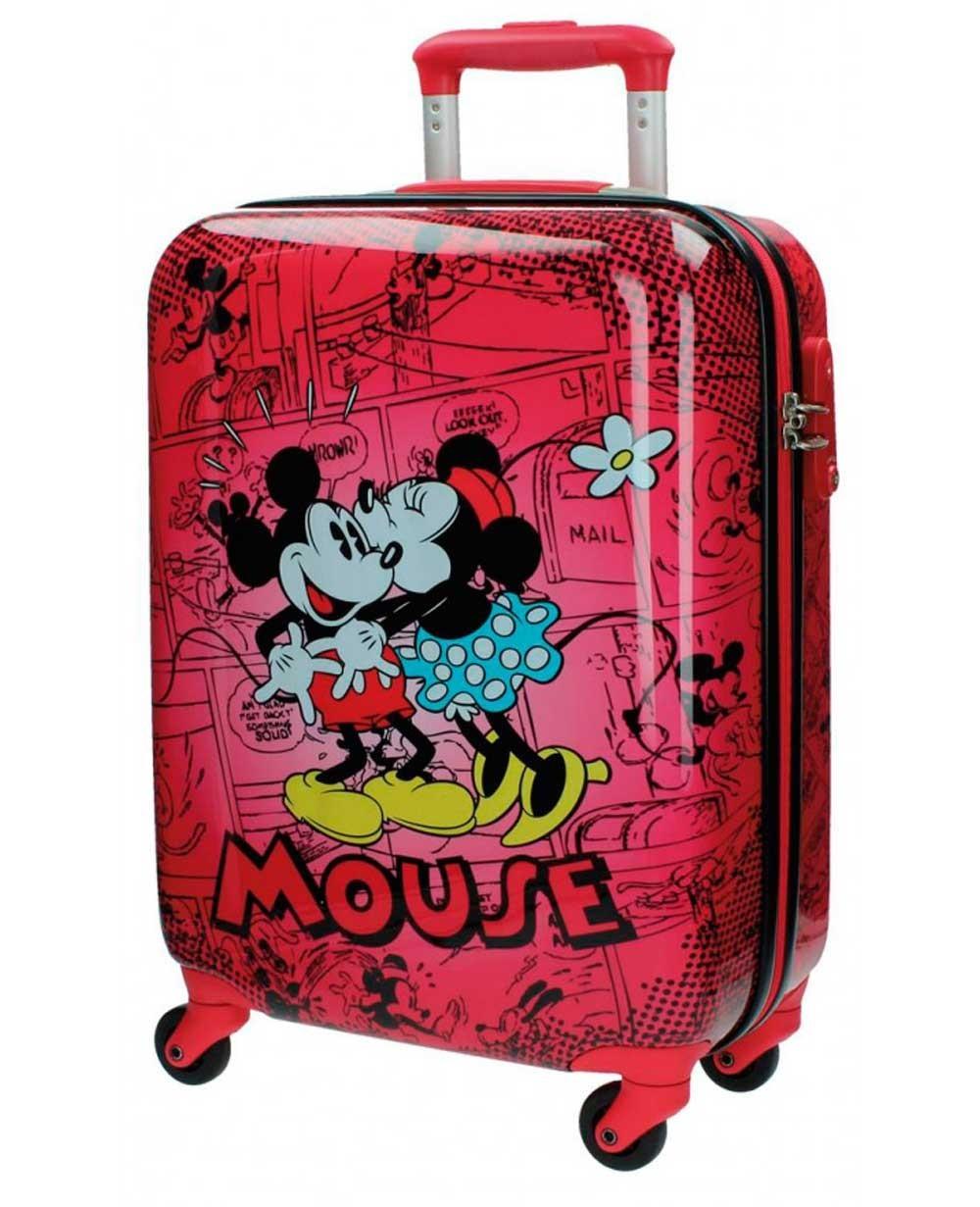 8c7554640d3 Maleta de mano Disney Mickey y Minnie Retro Roja - 55cm