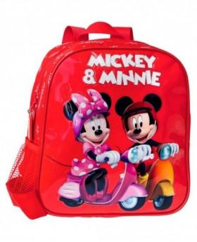 Disney Mickey & Minnie Vespa mochila preescolar Roja 0